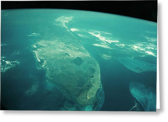 Florida From Space Greeting Card by Nasa/science Photo Library