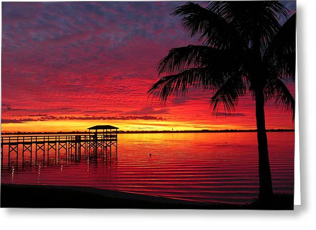 Greeting Card featuring the photograph Florida Sunset IIi by Elaine Franklin