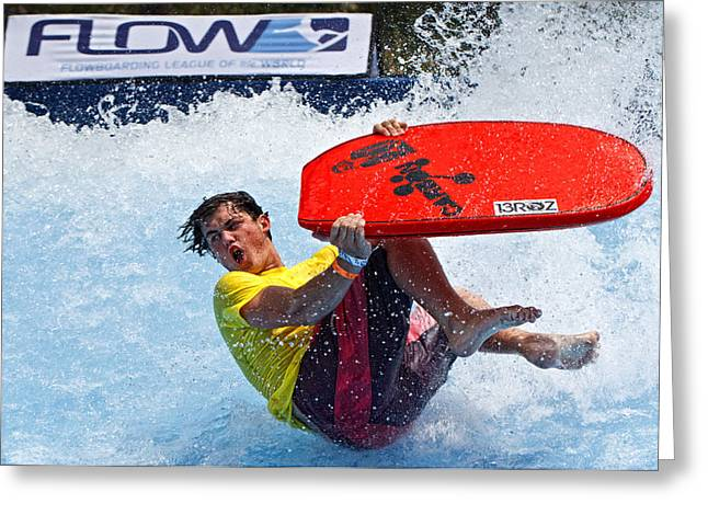 Flowboarding Extremes Greeting Card