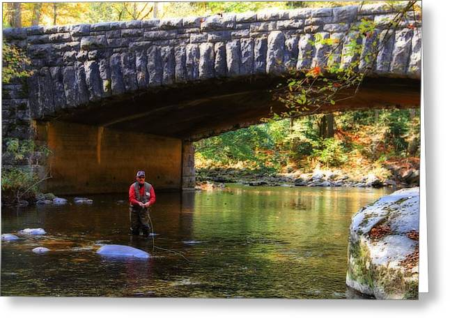 Fly Fishing In Autumn Greeting Card
