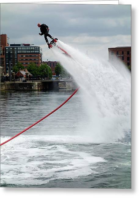 Flyboard Greeting Card by Cordelia Molloy