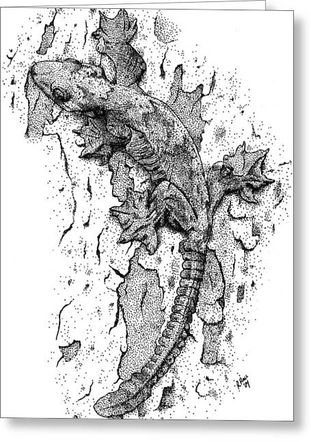 Flying Gecko Greeting Card by Roger Hall