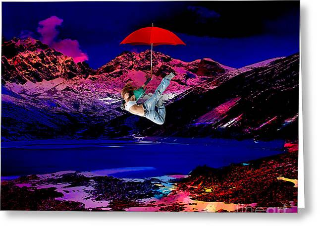 Flying High Greeting Card by Marvin Blaine
