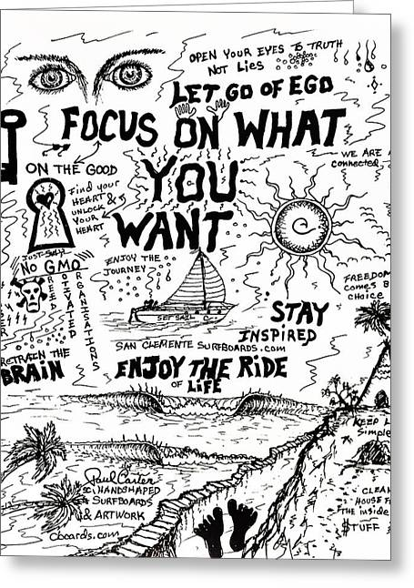 Focus On What You Want Greeting Card