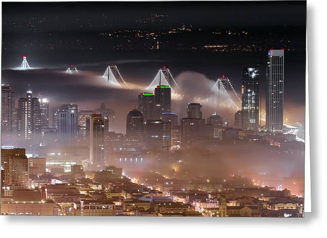 Fog City - San Francisco Greeting Card