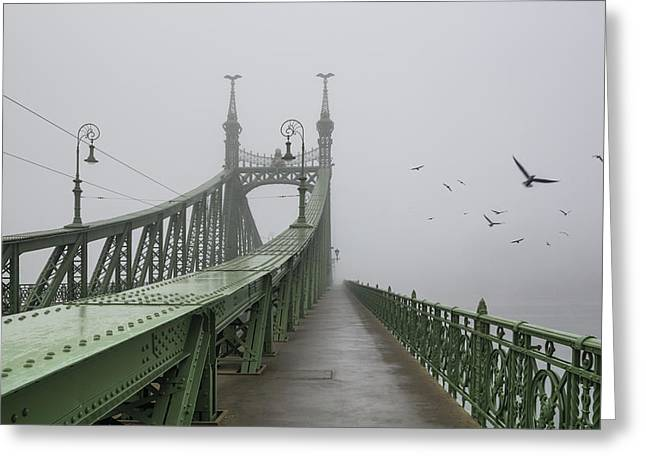 Foggy Day In Budapest Greeting Card by Ayhan Altun