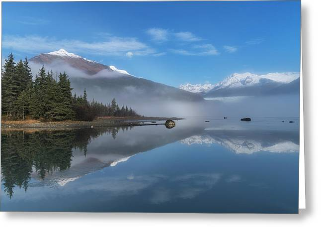Foggy Morning At Mendenhall Lake Greeting Card by John Hyde