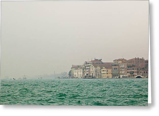 Foggy Morning In Venice Italy Greeting Card by Kim Fearheiley
