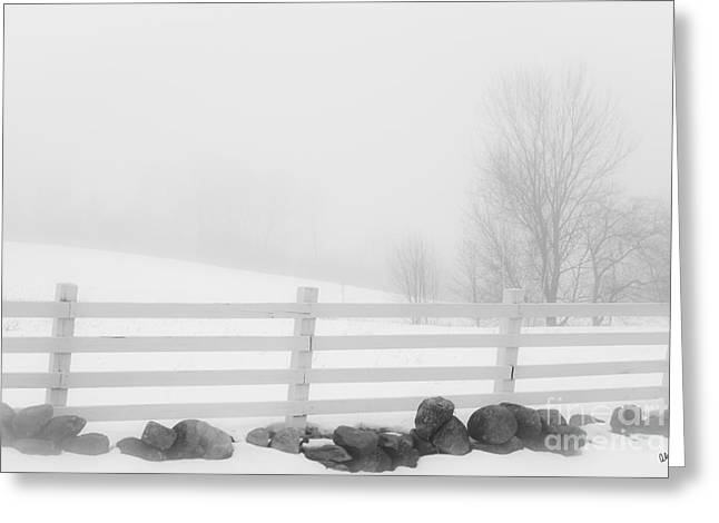 Foggy Winters Day Greeting Card