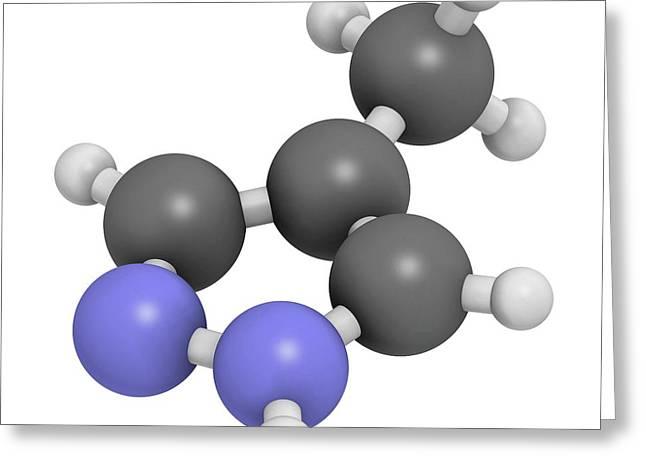 Fomepizole Methanol Poisoning Antidote Greeting Card by Molekuul