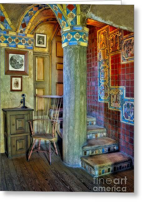Fonthill Castle  Greeting Card by Susan Candelario