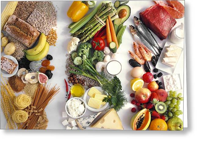 Food Groups Greeting Card by Science Photo Library