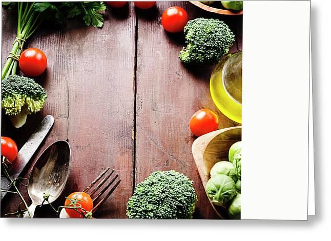 Food Ingredients Greeting Card