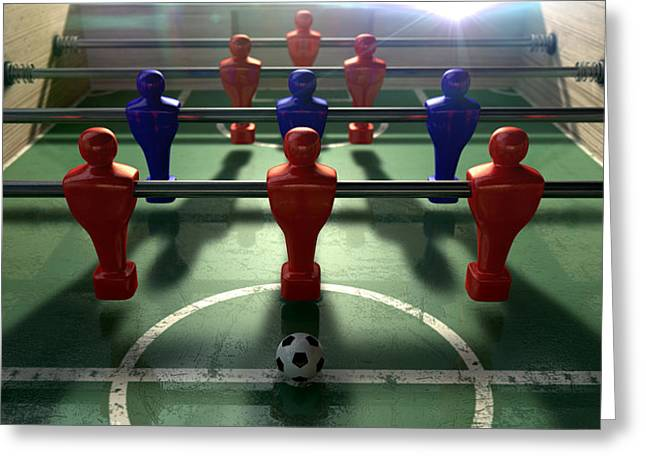 Foosball Table Greeting Card