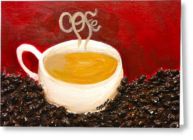 For The Coffee Lover Greeting Card by Melissa Torres