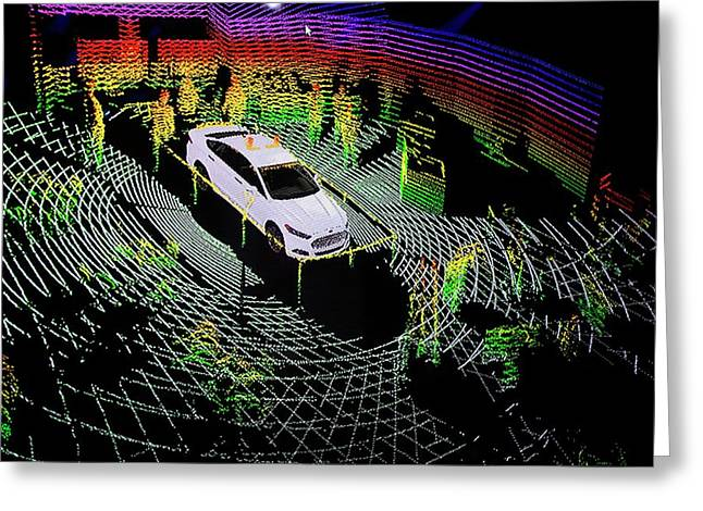Ford Autonomous Drive Vehicle Greeting Card by Jim West