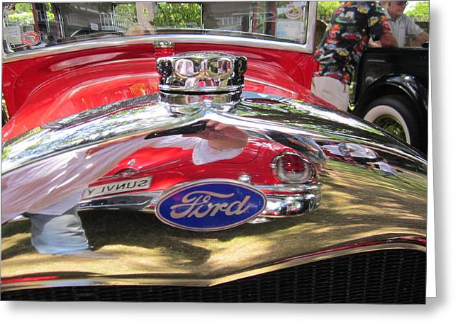 Ford Classic Car  Greeting Card by Max Lines
