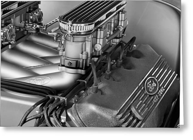 Ford Engine Greeting Card by Jill Reger
