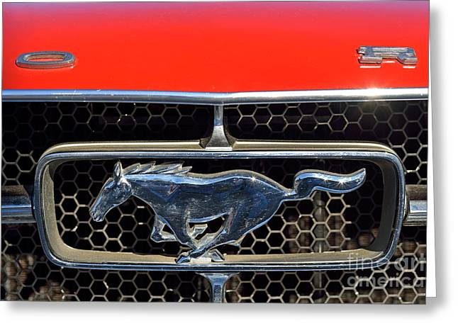 Ford Mustang Badge Greeting Card by George Atsametakis