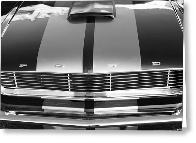 Ford Mustang Grille Greeting Card by Jill Reger