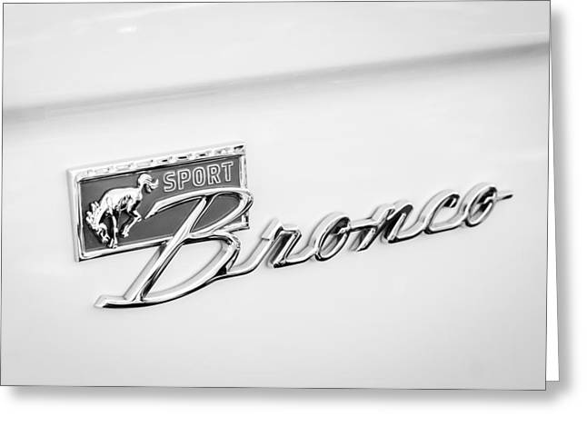 Ford Sport Bronco Emblem Greeting Card by Jill Reger