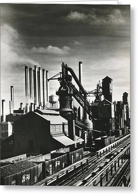 Ford's River Rouge Plant Greeting Card by Underwood Archives