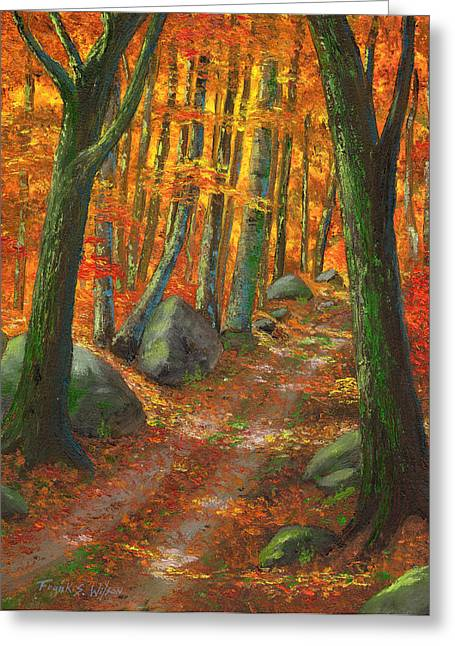 Forest Light Greeting Card by Frank Wilson