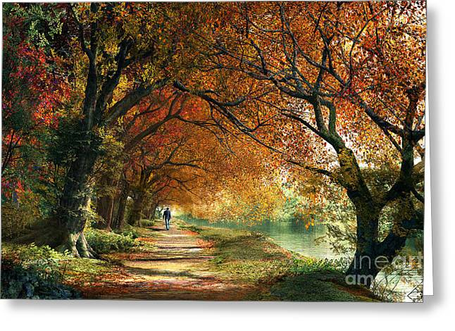 Forever Autumn Greeting Card by Dominic Davison