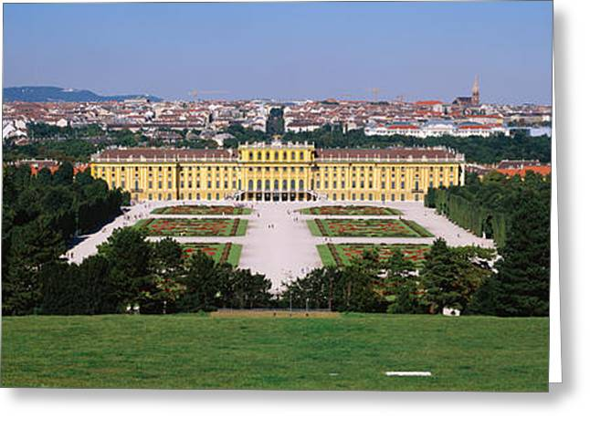 Formal Garden In Front Of A Palace Greeting Card by Panoramic Images