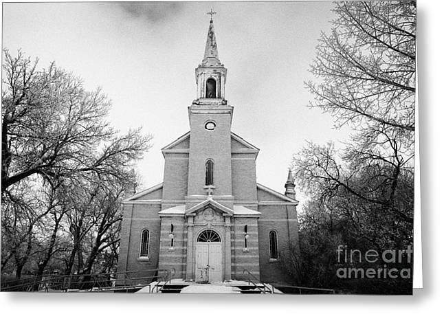former st josephs catholic church in Forget Saskatchewan Canada Greeting Card