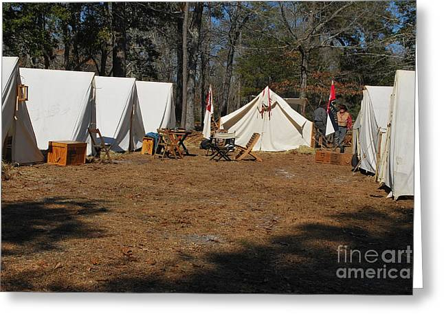 Confederate Encampment At Fort Anderson 1 Greeting Card by Jocelyn Stephenson