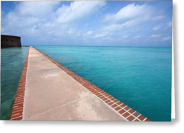Fort Jefferson At Dry Tortugas National Park Greeting Card by Jetson Nguyen