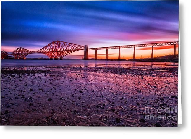 Forth Rail Bridge Greeting Card by John Farnan