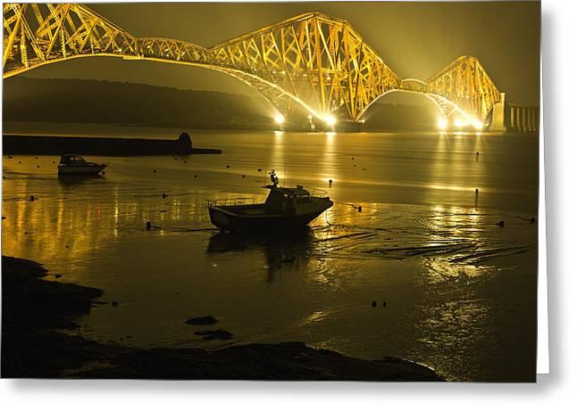 Forth Rail Bridge Scotland Greeting Card by Buster Brown
