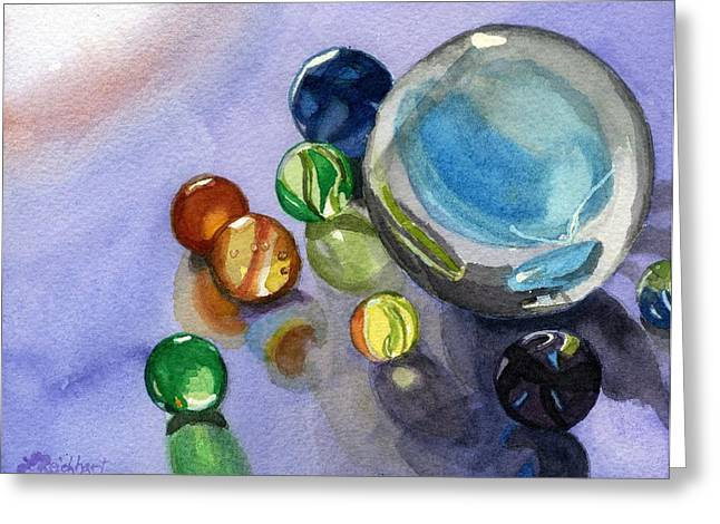 Found My Marbles Greeting Card by Lynne Reichhart