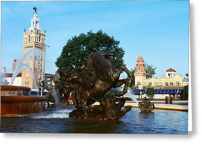 Fountain In A City, Country Club Plaza Greeting Card