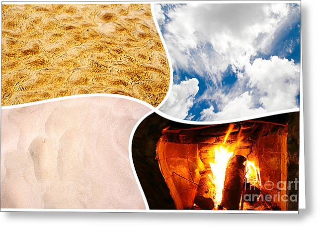 Four Elements Greeting Card by Michael Osterrieder