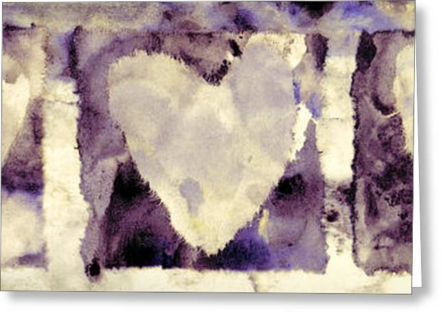 Four Hearts Greeting Card by Carol Leigh