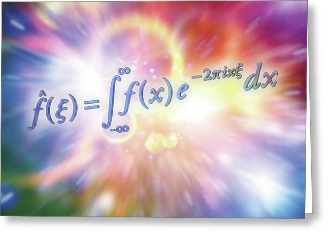 Fourier Transform Greeting Card by Alfred Pasieka