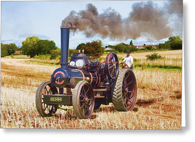 Fowler Ploughing Engine Greeting Card