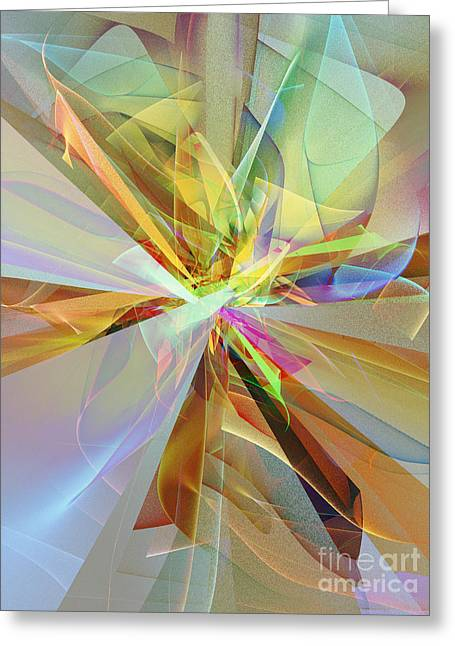 Fractal Fantasy Greeting Card