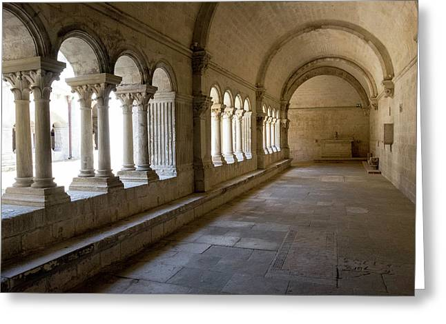 France, Arles, Abbey Of Saint Peter Greeting Card
