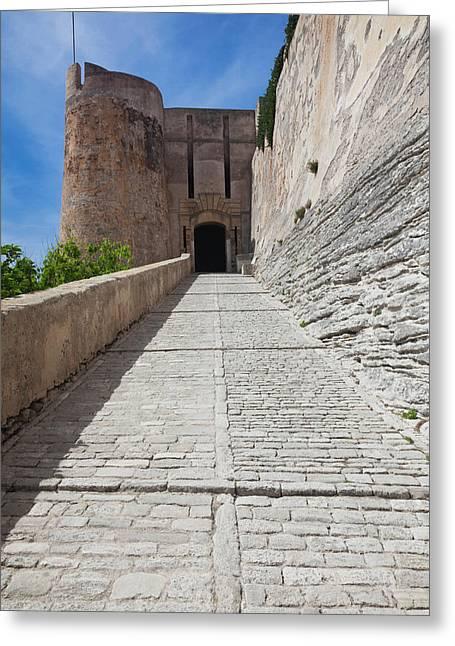 France, Corsica, Bonifacio, Citadel Greeting Card