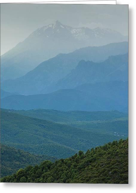 France, Corsica, Le Bozio, Santa Lucia Greeting Card
