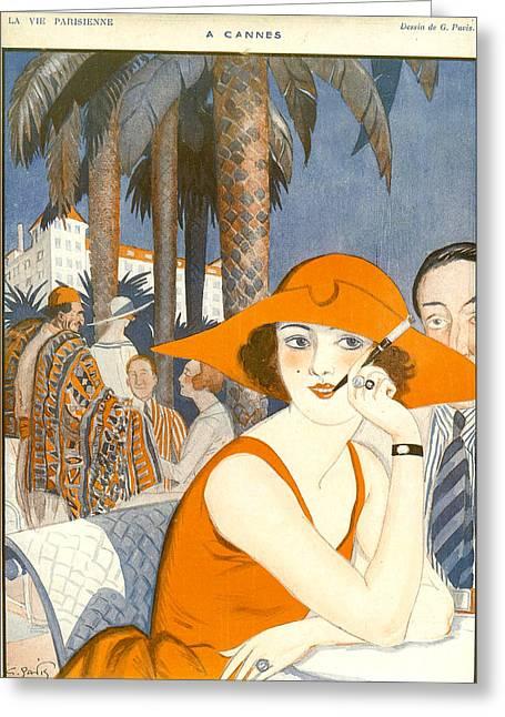 France La Vie Parisienne Magazine Plate Greeting Card