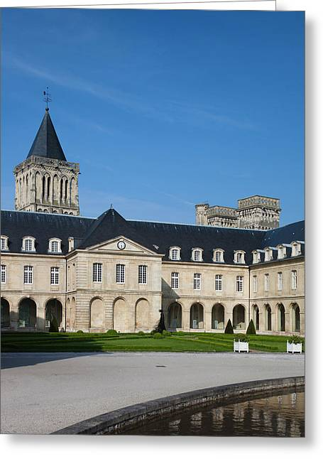 France, Normandy, Caen, Abbaye Aux Greeting Card
