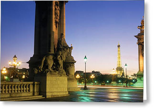 France, Paris, Pont Alexandre IIi Greeting Card by Panoramic Images