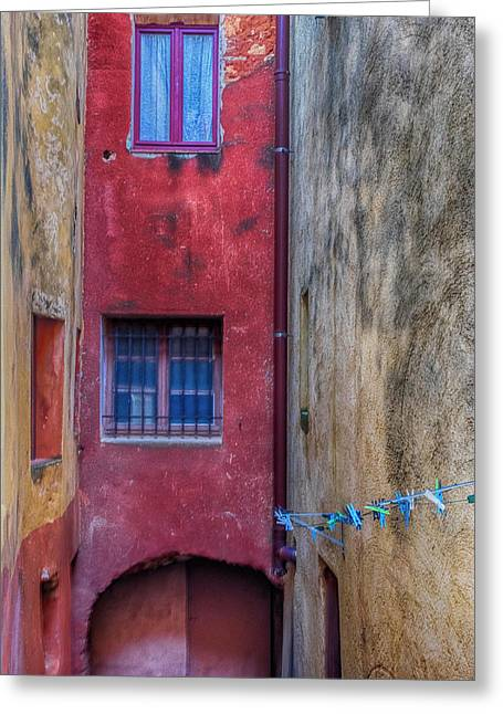 France, Provence, Roussillon, Colorful Greeting Card by Terry Eggers
