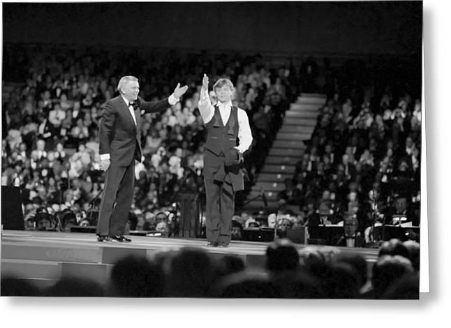 Frank Sinatra And Mikhail Barysnikov Greeting Card
