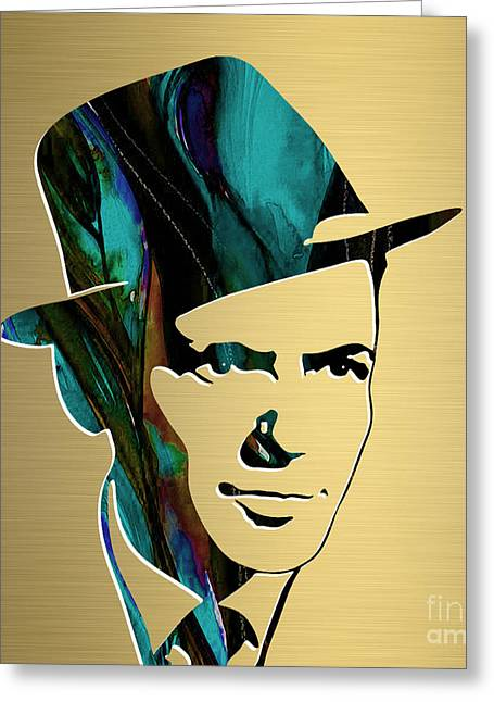 Frank Sinatra Gold Series Greeting Card by Marvin Blaine